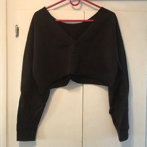 ASOS Black Cropped Sweatshirt